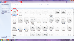 Inserire nuovo fonts in windows